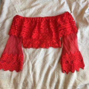 LF lace crop top.